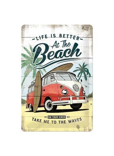 Nostalgic Art VW Bulli Beach Metal Pano Renkli